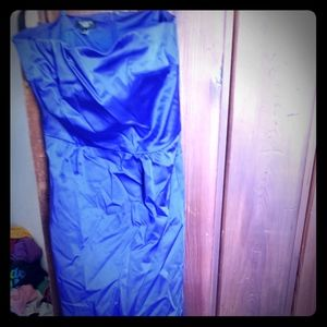 Blue formal prom dress with pockets! 4p